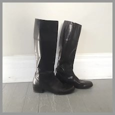 1990s Vintage Dark Brown Equestrian Inspired Bandolino Fashion Boots 8.5 M