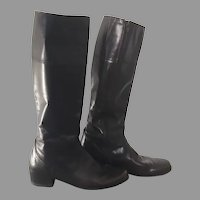 1990s Vintage Dark Brown Equestrian Inspired Bandolino Fashion Boots 8.5 M