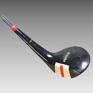 Vintage Red and Black Lefty Kroydon Astrolon 3 Wood Golf Club