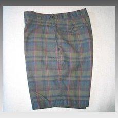 END of SUMMER SALE Vintage 1960s McGregor Madras Plaid Flat Front Shorts M