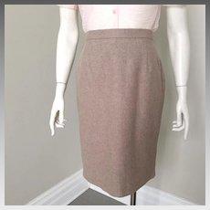 Vintage 1980s Escada Angora Wool Heathered Fawn Margaretha Ley Super Soft Skirt S