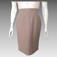 Vintage 1980s Escada Angora Wool Heathered Fawn Margaretha Ley Super Soft Skirt S