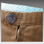 Vintage 1960s Patty Woodard California Mini Skirt with Polka dot lined Waistband XS S