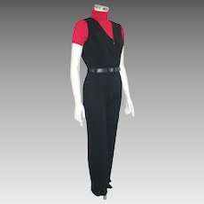 Vintage 1950s Austrian Designer Winter Ski Wear Jump Snow Suit Stirrup Pants Karl Bsik XS