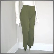Vintage 1960s Jack Winter Olive Green Ski Pants Stirrup Pants Sportswear S M