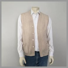 Vintage 1970s Cream Jantzen Menswear Sweater Vest L