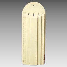 Vintage 1930s Art Deco Balsa Wood Knife Keeper Cadillac Yellow