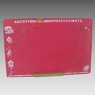 Vintage 1950s 1960s Red Chalkboard Chalk Board King Oceanside
