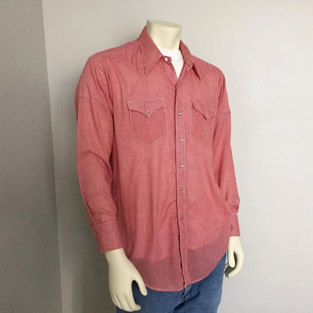 5cd208d2d9 Click to expand · Vintage 1960s Rockmount Ranch Wear Tru-West Red White  Gingham Cowboy Rockabilly Shirt