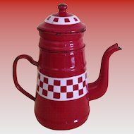 French Enamel Biggen - Coffee Pot