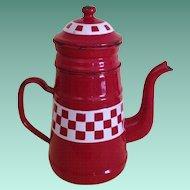 French Enamel Biggen - Coffee Pot