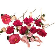 10 Vintage Millinery Flowers- USSR Occupied  Germany