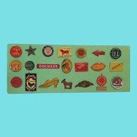 21 Vintage Tobacco Tags