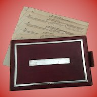 Rare English Hallmarked Telegraph - Telegram  Book and Unused Telegram  Forms - Circa 1912