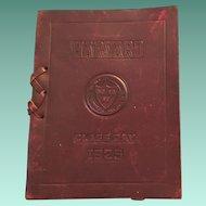 Rare Leather Cover 1925 Harvard University Class Day Program