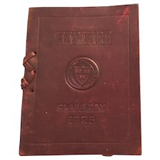 Rare Leather Cover 1925 Harvard University Class Day Program