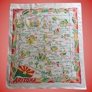 Vintage Tablecloth - Map of Arizona