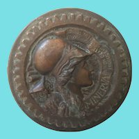 Rare Vintage General Electric Minerva Medallion Paperweight
