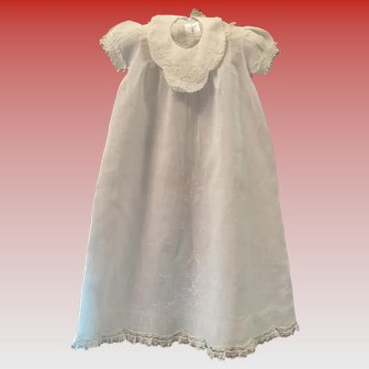 Vintage Christening Gown, Slip and Bib