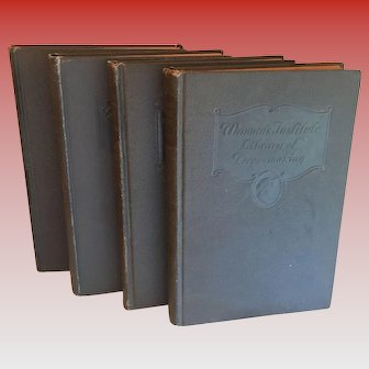 Womans Institute Library of Dressmaking - Vintage Four Volume Book Set