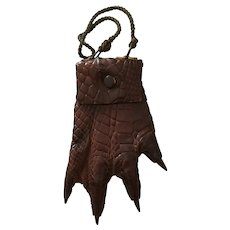 Alligator/Crocodile Paw Purse