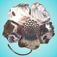 Sterling Flower Brooch Pin