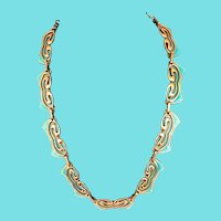 Matisse Enamel and Copper Necklace