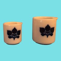 Two Individual Creamers by Imperial - Bavaria with Flow Blue Decoration