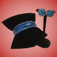 Matisse Enamel Bangle Bracelet and Earrings