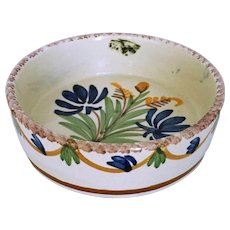 Henriot Quimper Pottery Small Hand Painted Dish