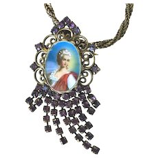 Vintage Hobe Pendant/Brooch with Chain