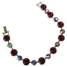 Vintage Weiss Red Stone Bracelet