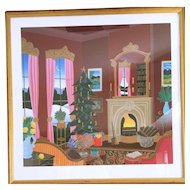 """Thomas McKnight """"Christmas in Connecticut"""" Serigraph on Paper Hand Signed 98/175"""