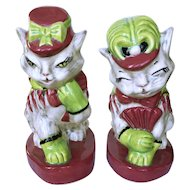 Brayton Laguna Fifi and Zizi Pottery Cat Figurines