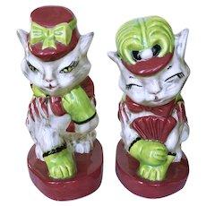 Brayton Laguna Fifi and Zizi Pottery Cat Figurines