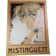 Huge Mistinguett Poster by Charles Gesmar, 1925, paris