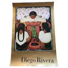 Diego Rivera Poster 1986 Exhibition Poster Los Angeles County Museum of Art