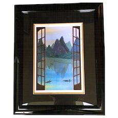 """""""China Mountains"""" Fanch Ledan, Signed and Numbered Serigraph"""