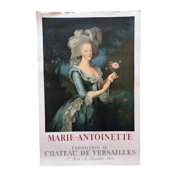 Poster for Marie Antoinette Exhibition 1955, Mourlot Edition