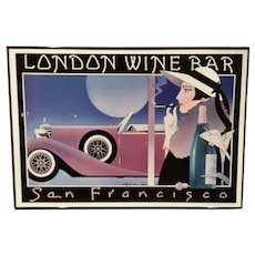 Signed Stephen Haines Hall Wine Bar Poster