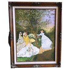 B Mackintosh Acrylic Painting of Four Women