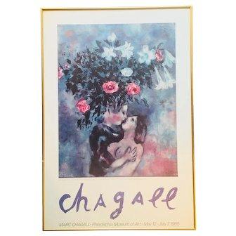Chagall Original 1985 Philadelphia Museum of Art Poster