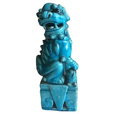 Turquoise Colored Vintage Chinese Foo Dog