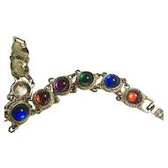 Multicolor Glass Cabochon Bracelet