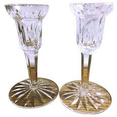 Vintage Waterford Crystal Candlesticks