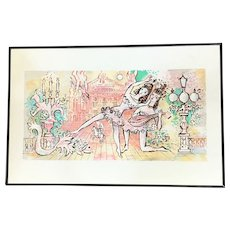 """Charles Cobelle """"The Lute Dancers"""" Lithograph Signed and Numbered 13/500 - Red Tag Sale Item"""