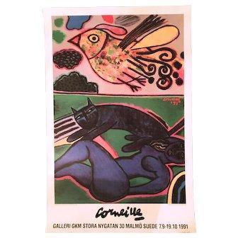 1991 Guilliame Corneille Exhibition Poster