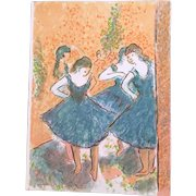 """Wayne Ensrud """"Homage to Degas 1"""" Artist Proof Lithograph on Paper"""