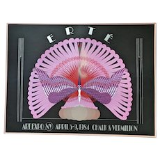 Stunning 1984 Vintage Erte Poster
