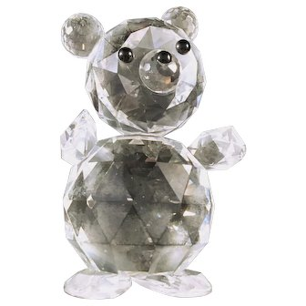 Swarovski Giant Crystal Bear 1980's 7637 NR 112